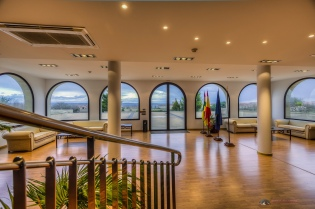 View of the hall at Viña Herminia