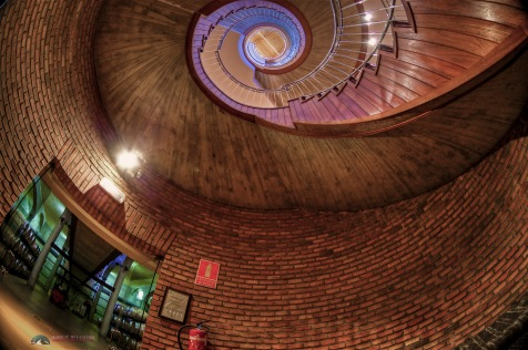 View of the spiral staircase at Viña Herminia