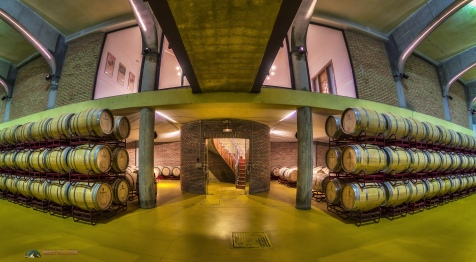 Views from within the Bodega (Cellar) at Viña Herminia