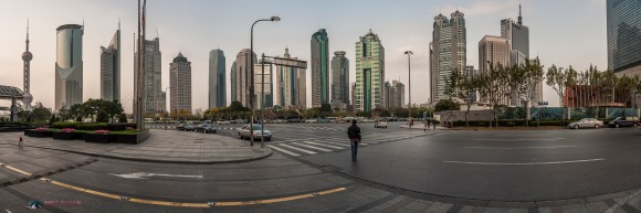 Panorama captured in the business district