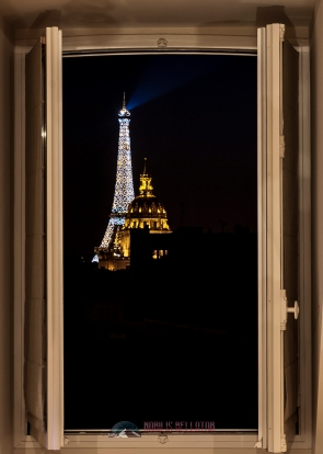 The window in my apartment in Paris with a spectacular view.